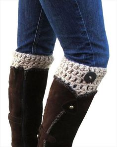 Easy and Nice Crochet Boot Cuffs Pattern