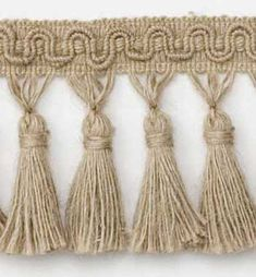 Hemp Fiber Tassel Fringe - Natural   Online Discount Drapery Fabrics and Upholstery Fabric Superstore!
