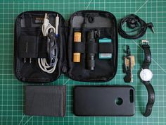 Pocket Dump  Essentials Pouch  submitted by Olivia Dawson  Google Pixel 32GB Black - 5 inch display ( Factory Unlocked US Version ) (Quite Black)  SlimFold MICRO Soft Shell  Nite Ize DooHicKey  Nite Ize S-Biner Micro Lock  Tissot Everytime T109.610.16.031.00 Silver/Black Leather Analog Quartz Men's Watch  Panasonic RP-HJE120-K  Fenix E12  Listerine Pocketpaks  Burts Bees Beeswax Lip Balm  Gerber Mini Paraframe  Official Google Pixel/XL/C Quick Fast Charger (USB A to C)  Google 18W USB-C…
