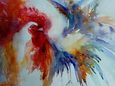 Rooster watercolor haines | visit jeanhaines com