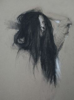 "Casey Childs ""Tousled"" - 18x13, charcoal on paper - at Principle Gallery"