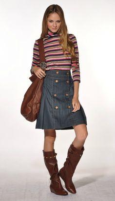 Vitamina denim skirt. #skirt #Vitamina #denim #Argentina