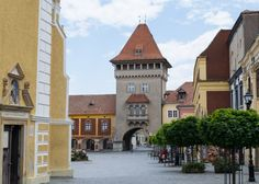 """One small town in Hungary that makes a nice day trip from Vienna is Koszeg. By the border, medieval Koszeg is often known as the """"Jewel Box of Hungary"""". Day Trips From Vienna, City People, Small Towns, Places To Visit, Around The Worlds, Mansions, House Styles, Cities, Landscapes"""