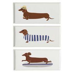 cutest summer dachshund plates