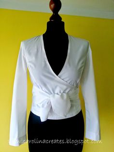 Burda 6/2006 model 110, wrap blouse