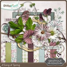 A Song of Spring :: Gotta Pixel Digital Scrapbook Store :: a Pixel Club Exclusive March 2016 from Seatrout Scraps