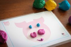Preschool on the Farm theme. Farm play dough mats by Busy Little Bugs. (preschool or kindergarten)