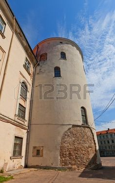 Tower of Holy Spirit  circa XIII c   of Riga town fortifications..