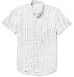 <a href='http://www.mrporter.com/mens/Designers/Saturdays_NYC'>Saturdays NYC</a>'s 'Esquina' shirt is an easy way to liven up casual looks. Printed with an irregular dot pattern, this slim-fit piece is made from crisp cotton-poplin and finished with a neat button-down collar. Wear it with slim jeans, or try it as a cool complement to black suiting.