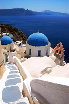 Santorini, Greece. This place is what you envision Greece to be like. White and Blue. The scenery here is amazing.  I can't wait to visit Greece again one day.