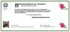 Reconocimientos 2014: Patricia Barba Ávila Distinción: Leona Vicario