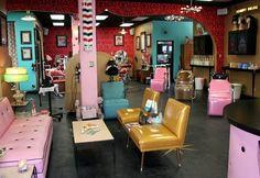 Ultra Lux Salon and Lounge. Reception area.