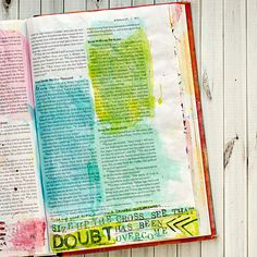 Art Worship Mixed Media Art Journaling Bible | Illustrated Faith | John 6