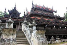 El Monasterio Shwenandaw en Mandalay