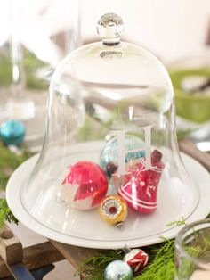 Letter Perfect Cloche  Add your monogram to plain glass cloches with a letter stencil and etching cream, available at crafts stores.