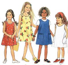 Simplicity New Look 6739 Sewing Pattern Childrens Dress