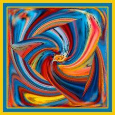 Colorful Waves giclee art print by Ben and Raisa Gertsberg modern artwork