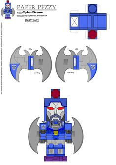 Paper Pezzy- G1 Scourge '2of2' by CyberDrone.deviantart.com on @deviantART