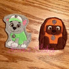 Paws Finger Puppet Add On – Bows and Clothes