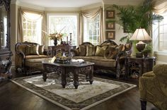 Essex Manor Upholstered sitting room by Michael Amini -Aico Furniture