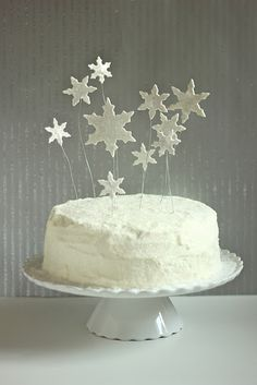 dreaming of a white christmas cake