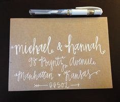 New calligraphy style from Lauren Heim Weddings + Events! Email lauren@laurenheimweddings.com to order!