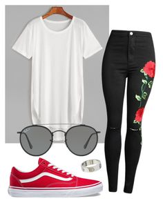 """#No name"" by eemaj ❤ liked on Polyvore featuring Ray-Ban, Vans and Cartier"