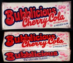 Discover more of the best Fuffr, Bubblicious, Cherry, Cola, and Bubble inspiration on Designspiration Retro Candy, Vintage Candy, Vintage Toys, 1980s Candy, Vintage Sweets, Vintage Stuff, Retro Vintage, Tennessee Williams, 80s Food