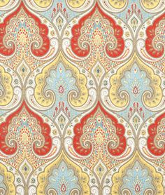 Latika Festival Fabric at onlinefabricstore.net for $31.45/ Yard. Best Price & Service. This was BEAUTIFUL!  The coral would be daring.