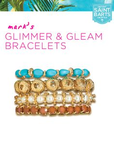mark's Glimmer & Gleam Bracelets are four stackable, island-style bracelets that will glam up any outfit! #instantvacation
