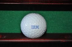 Ball is in very condition, with golfer's marks on the side of the ball. The logo is flawless--perfect for your display case! The ball pictured is the ball for sale.