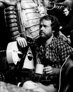 Ridley Scott on the set of Alien