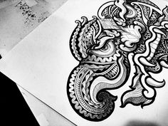 thai tattoo by jack release tattoo ทศกัณฐ์ maori tattoo
