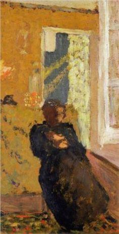 Seated Woman Dressed in Black by Jean Édouard Vuillard (1868-1940)