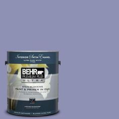 BEHR Premium Plus Ultra 1-gal. #630D-5 Wild Wisteria Satin Enamel Interior Paint-775401 - The Home Depot