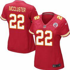 Women's Nike Kansas City Chiefs #22 Dexter McCluster Elite Team Color Red Jersey