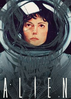 """Alien"" by Sarah Go #design #poster"