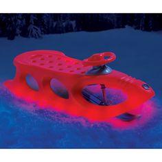 The Lighted Alpine Sled - Hammacher Schlemmer