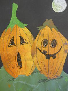 printmaking pumpkins!