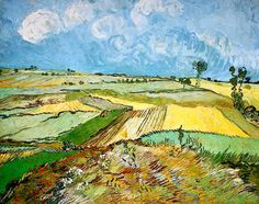 """Wheat Fields at Auvers Under Clouded Sky"".Vincent van Gogh Painting, Oil on Canvas Auvers-sur-Oise: July, 1890 Vincent Van Gogh, Art Van, Van Gogh Landscapes, Landscape Paintings, Abstract Landscape, Carnegie Museum Of Art, Art Museum, Van Gogh Museum, Henri Matisse"