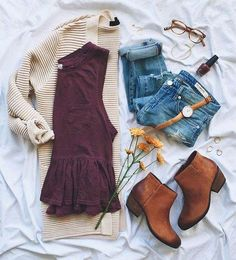 Fall trendy, casual outfit