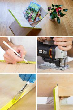 Cómo hacer un revistero de madera en aspa ➜ ¿Te gustan las revistas? Entonces necesitas un sitio bonito donde ponerlas.  #DIY #Handmade #Bricolaje #Revistero