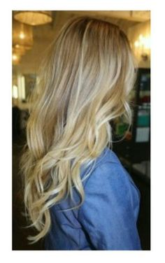Golden blonde with highlights