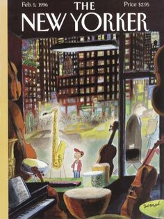 """The New Yorker - Monday, February 1996 - Issue # 3694 - Vol. 71 - N° 47 - Cover """"The Boy Who Wanted to Be President"""" by """"Sempé"""" - Jean-Jacques Sempé The New Yorker, New Yorker Covers, Old Magazines, Vintage Magazines, All Poster, Poster Prints, Illustration Noel, Magazine Art, Magazine Covers"""