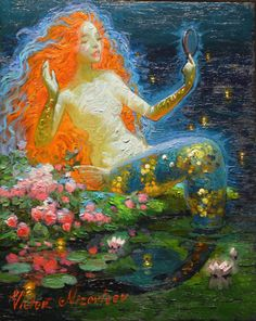 Mermaid by Victor Nizovtsev Siren Mermaid, Mermaid Diy, Mermaid Tails, Real Mermaids, Mermaids And Mermen, Fantasy Kunst, Fantasy Art, Mark Rothko, Victor Nizovtsev