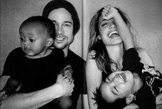 Angelina Jolie & Brad Pitt. Happy:) Photographed by Mario Testino.