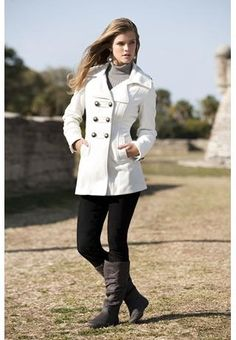 White Peacoat for only $40 - wow!