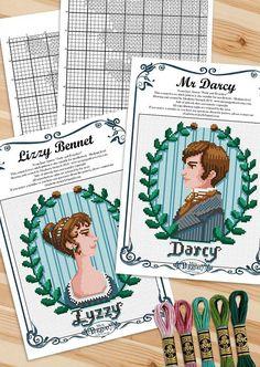 Cross Stitch Art, Cross Stitch Designs, Cross Stitch Patterns, Jane Austen Book Club, Mani, Cross Stitches, Pride And Prejudice, Needle Felting, Needlepoint