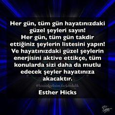 #estherhicks #hayat #yaşam #kişiselgelişim #farkındalık #çekimyasası #günaydın Staying Positive, Positive Vibes, Reiki, Psychology, Literature, Self, Knowledge, Healing, Inspirational Quotes