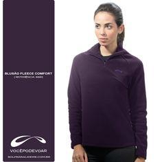 Blusão Fleece Confort  / Disponível nas Cores: Azul e Roxo